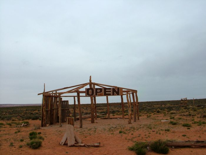 Stánek v indiánské rezervaci Navajo