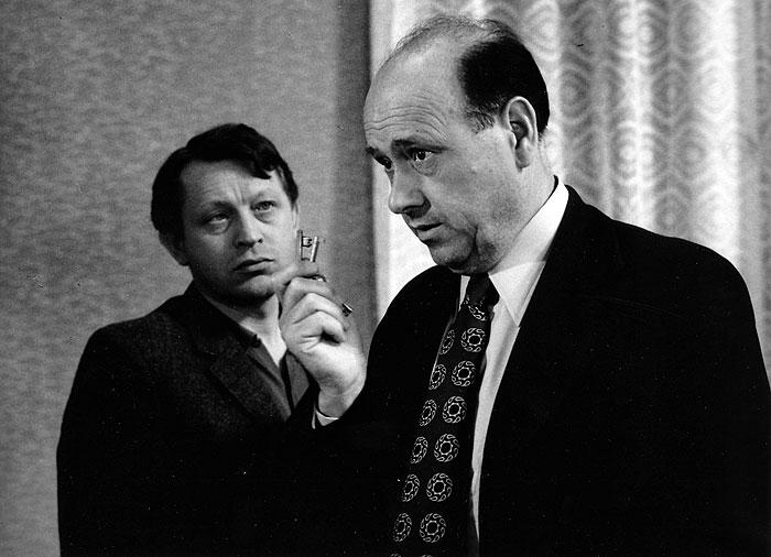 S Františkem Řehákem v roce 1975 v kriminálce Město nic neví