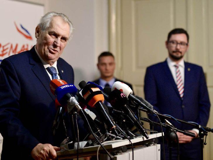 Prezident Miloš Zeman po vítězství v prvním kole voleb 2018