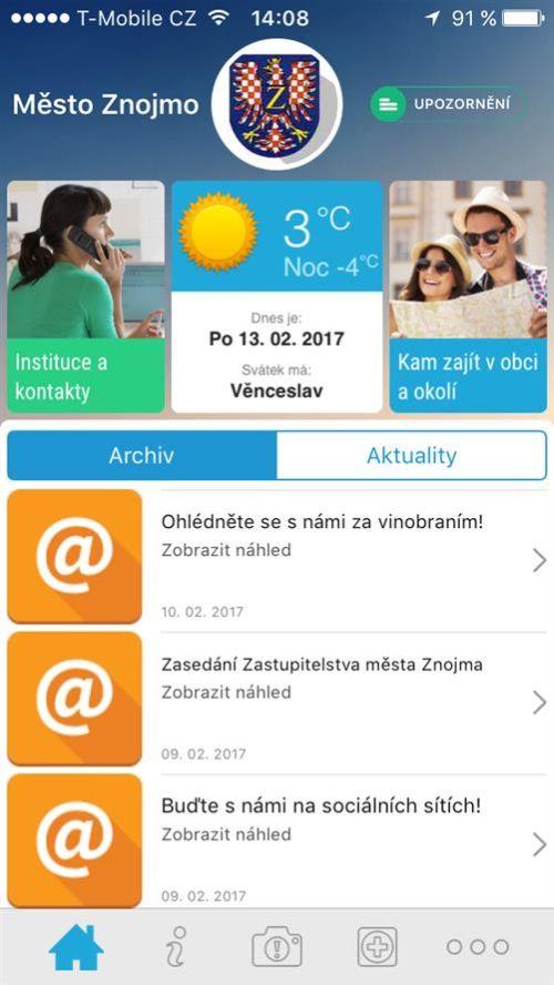Znojmo - aplikace