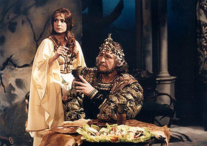 S Ilonou Svobodovou v televizní pohádce O lesním království