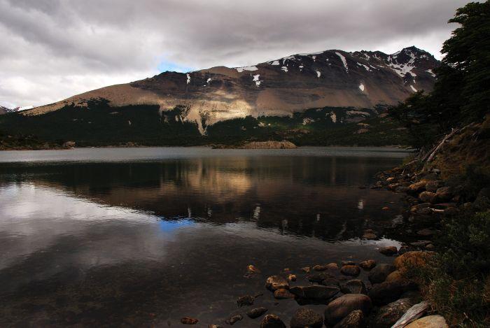 Jedno z jezer poblíž hory Fitz Roy