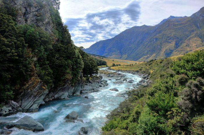 Ledovcová řeka Matukituki