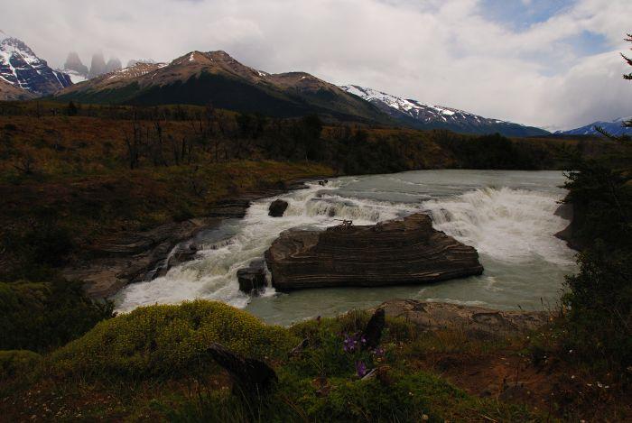 Peřeje na řece Rio Paine