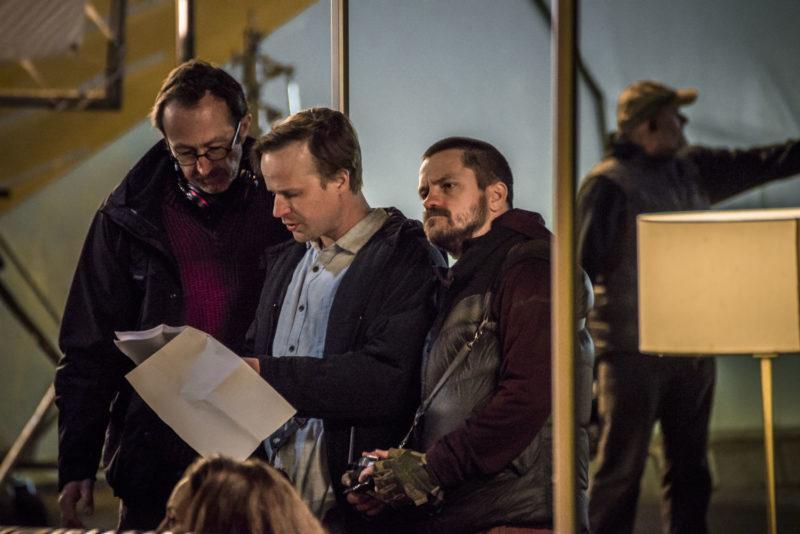 S režisérem Petrem Zelenkou a Jiřím Mádlem při natáčení filmu Modeláři