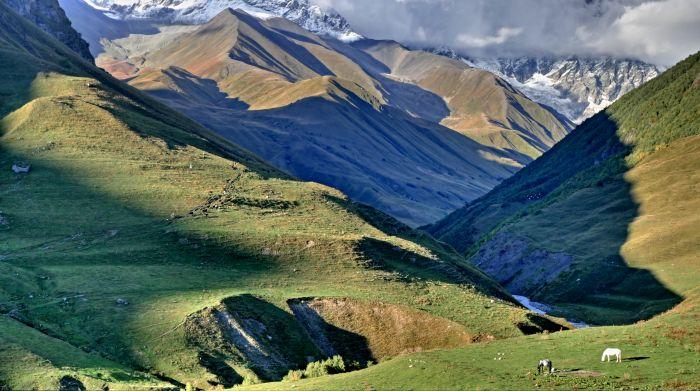 Ledovcové údolí pod Šcharou