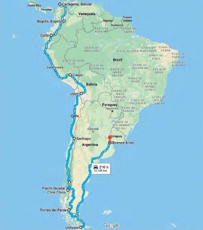 Kolem světa Žigulem - Jižní Amerika