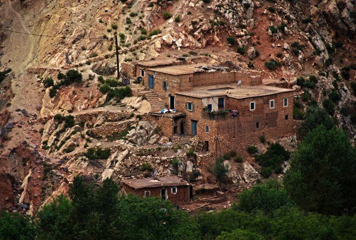 Typické domky vysokého Atlasu