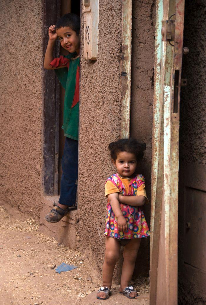 Děti v horském městečku Mulay Brahim