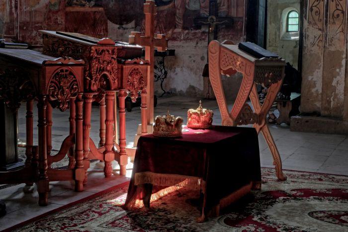 Interiér kláštera Gelati