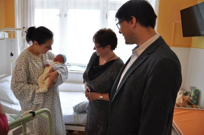 Gratuloval starosta Vsetína i ředitelka nemocnice