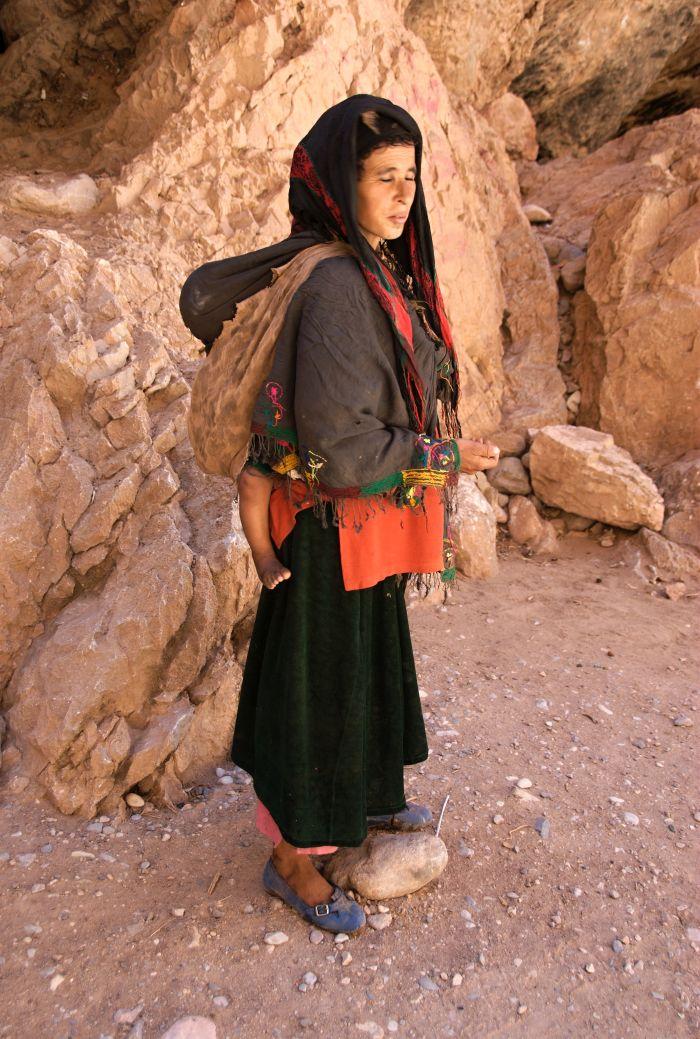 Berberka s dítětem