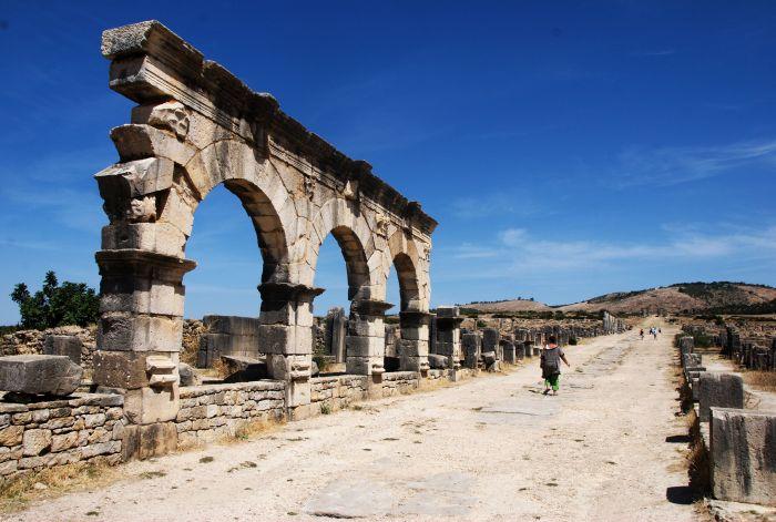 Volubilis - kdysi nejodlehlejší římské město v Africe