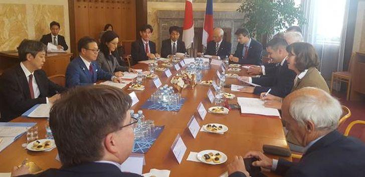Setkání české a japonské delegace