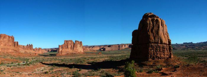 Panoramatický pohled na část parku Arches