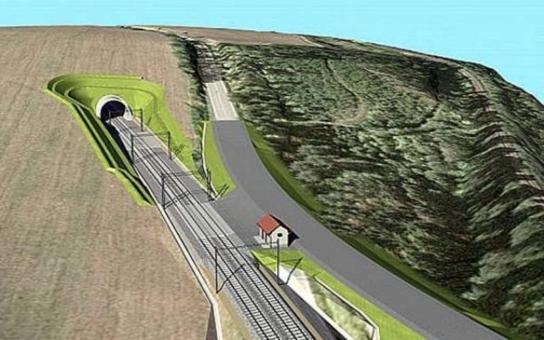 První železniční tunel v Jihočeském kraji. Trať zkrátí o 500 metrů