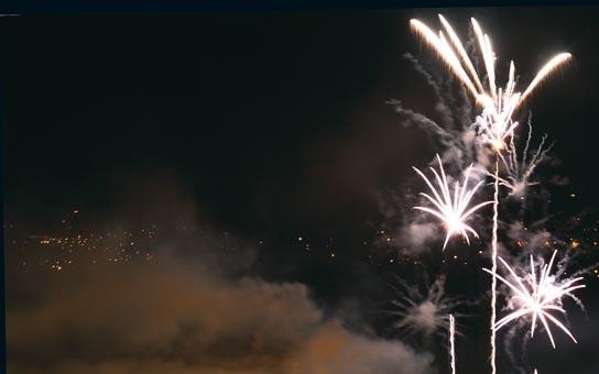 Velkolepý festival ohňostrojů začíná, motivem je Cyril a Metoděj