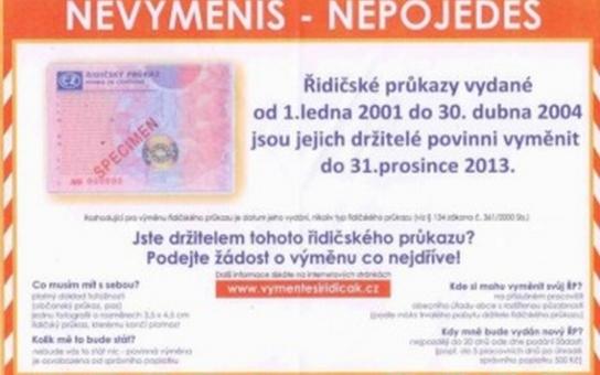 Řidičské průkazy si musí na Chomutovsku vyměnit 2600 řidičů