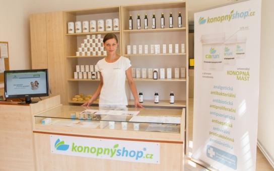 Benešov se dočkal konopné lékárny Konopnyshop.cz