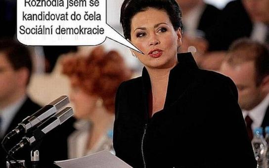 Bobošíková chce šéfovat ČSSD, tvrdí vtipálek