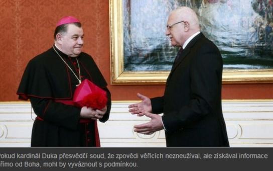 Spadla klec! Kardinál Duka bude stíhán za nelegální obchodování s odpustky. Web informuje o zatčení českého primase