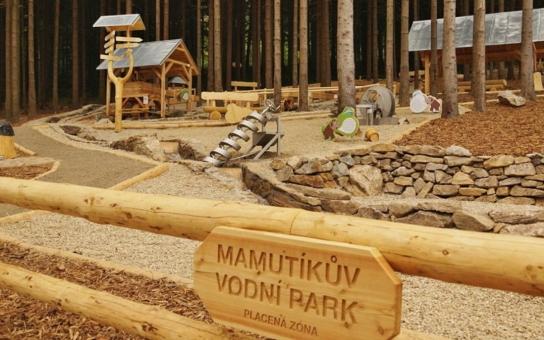 Jedinečný Mamutíkův vodní park otevřeli o víkendu na Dolní Moravě pod Králickým Sněžníkem
