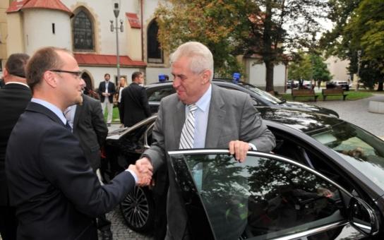 Zeman navštíví Pardubický kraj na podzim těsně po volbách. Prezident přijede již podruhé