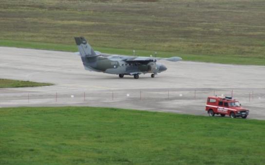 Únosce přepadl v Českých Budějovicích letadlo. Letoun typu L – 410 Ministerstva obrany