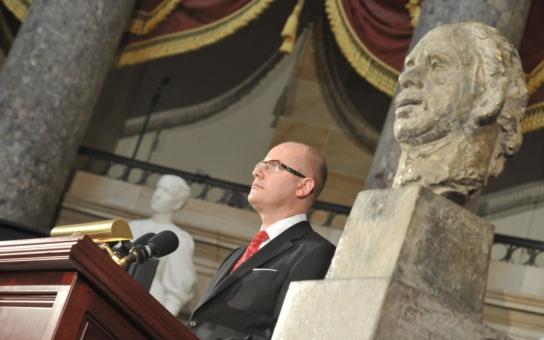 Obrovská pocta pro Česko: V americkém Kongresu byla slavnostně odhalena busta Václava Havla, který je teprve čtvrtým takto vyzdviženým Evropanem