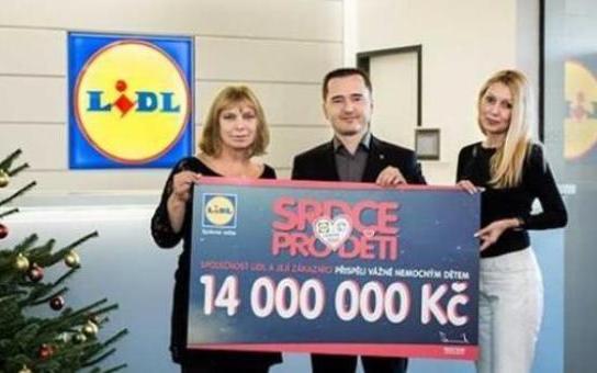 Sbírka v prodejnách Lidl vynesla rekordní částku 14 milionů korun