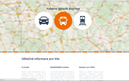 Nový portál pomůže řidičům zorientovat se v dopravě. Tento týden jej představilo vedení Pardubického kraje