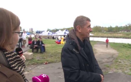 VIDEO Takhle Babiš reagoval na reportéry TV Barrandov, která ho tvrdě kritizovala, když se potkali na akci