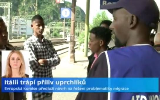 """Uprchlíci kradou a znásilňují! Máme strach, zaznělo v ČT od Češky z italského Milána. S tím, že nejde o žádné """"jedna paní povídala"""", ale policejní fakta"""