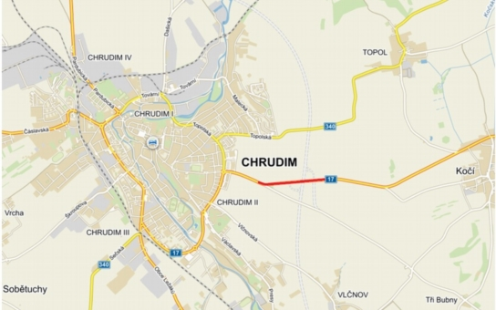Trasa Chrudim – Kočí bude krátkodobě uzavřena. Je to kvůli obchvatu silnice I/37