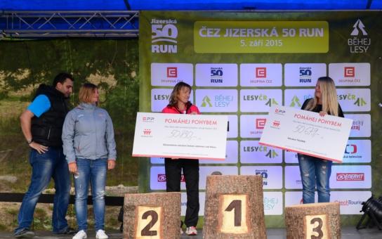 Mistryně světa Zuzana Hejnová pomáhala pohybem na ČEZ Jizerská 50 RUN