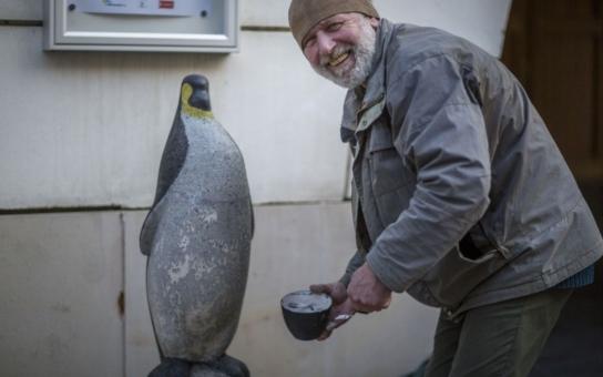 Oblíbený tučňák se vrátil na Dolní náměstí, má to tam ale jenom takříkajíc za pár. Vyberou mu Olomoučané lepší domov?
