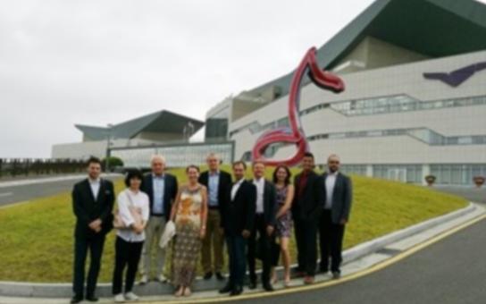 Jihomoravská delegace jednala v jihokorejském Tongyeongu s představiteli mezinárodní hudební nadace. Na programu je i návštěva Nanotechnologického parku