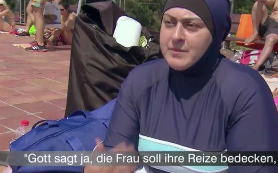 Arabky v německých bazénech. Televize nevydržela a natočila to. Máme záznam