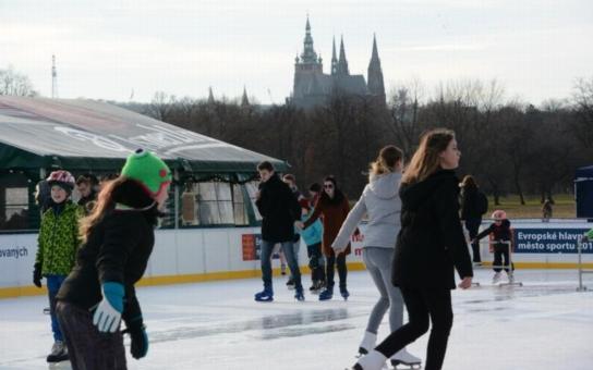 Oficiální zakončení roku s titulem Praha Evropské hlavní město sportu se odehrálo symbolicky, na kluzišti
