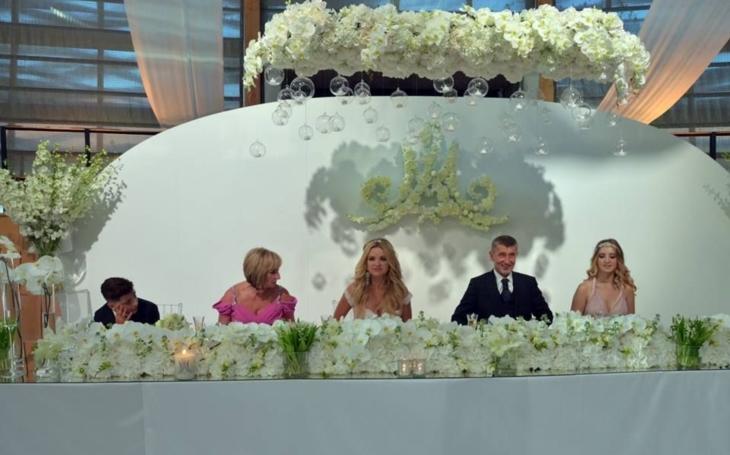 Babišovi v ráji. Chyběli jenom prdelatí andělíčci. Omračující svatební  luxus, který  u nás nemá obdoby. Lid chce také dotaci na pěkné hnízdečko