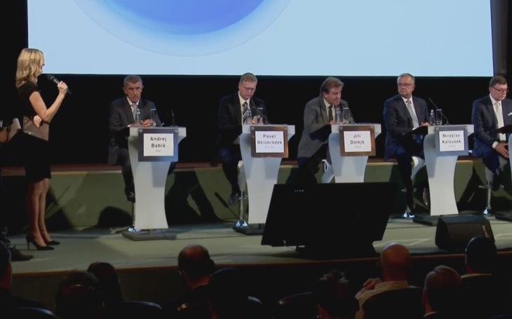 První velká předvolební debata se odehrála v Lucerně. Co se dozvěděli voliči? Němá prý u nás už kdo pracovať. A Babiš versus Zaorálek...