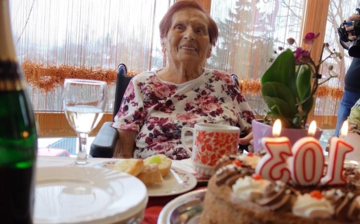 Narodila se ještě za císaře pána... Každý rok mi přinesl důvod, proč se radovat, říká 103letá jubilantka
