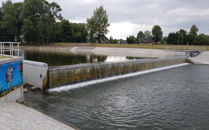 Mysleli i na ryby… Rekonstrukce Staroměstského jezu na řece Ostravici ve Frýdku-Místku je ukončená