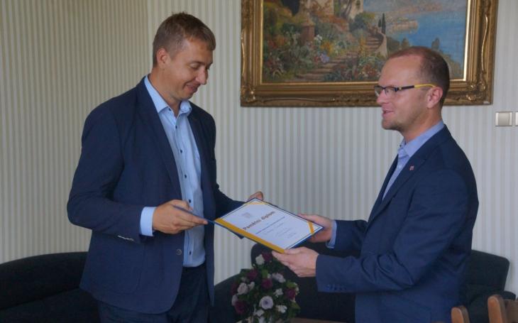 Starosta Svitav David Šimek obdržel Medaili hejtmana Pardubického kraje