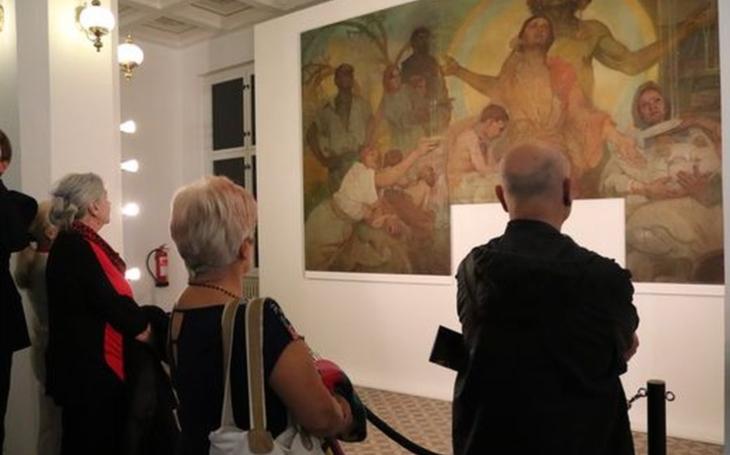 Bůh Mamon. Alfons Mucha ho vytvořil pro Českou záložnu, ale dílo zmizelo. Unikátní obraz teď odhaluje mostecké muzeum