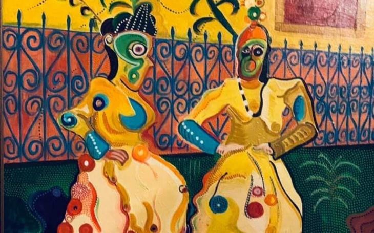 Maluje při zaměstnání, po večerech, hluboko do noci, při zaměstnání a své obrazy teď vystaví v Prádelně Prahy 5