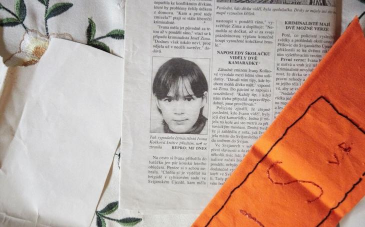Pohřešovaná. 13. 7. 1997 vyrazila Ivana na kole, na silnici ji zahlédla kamarádka. To bylo naposledy, čtrnáctiletá dívka zmizela beze stop
