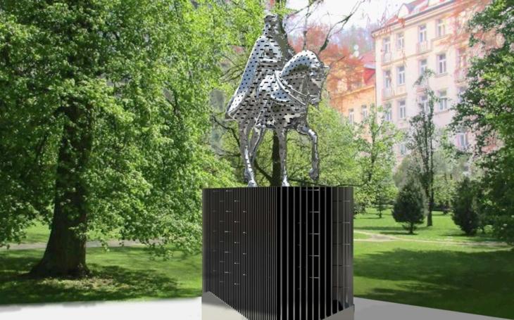 Někde sochy padají, v Karlových Varech jednu staví. ´Bezpečného´ Karla IV. A to přesto, že už jednoho otce vlasti mají