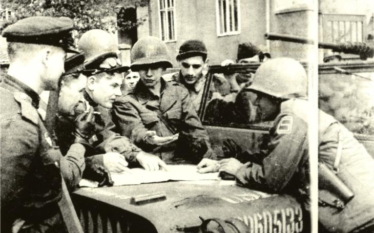 Poslední výstřel západních armád vyštěkl na Sokolovsku nad hlavami německých vojáků s běhavkou