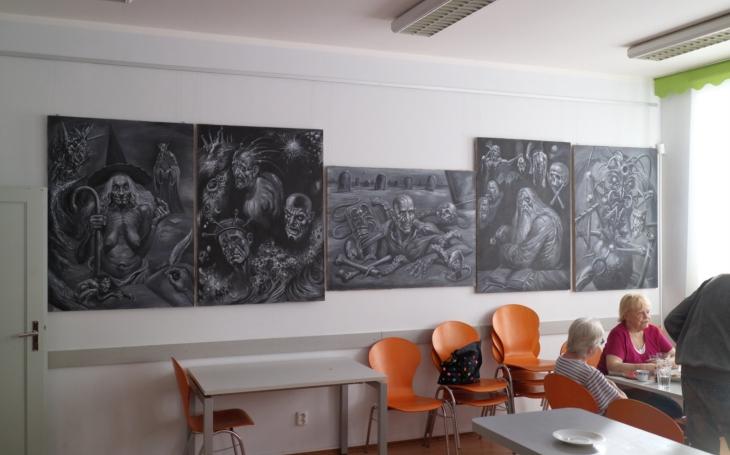 ´Bytosti z nevědomí´ kontroverzního akademického malíře Jiřího Lhoty... Výstava v Komunitním centru Prádelna